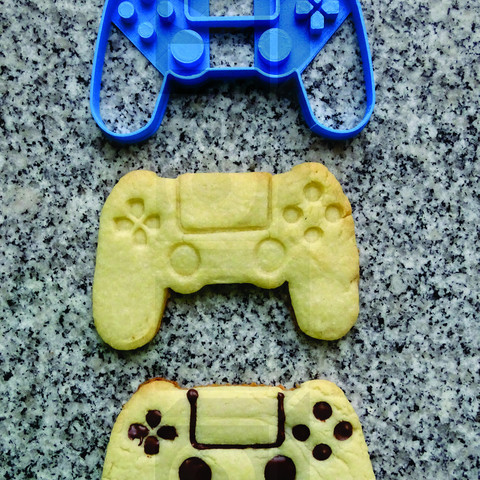 mando ps4 cookie.jpg Download STL file cookie cutter cookie cutter ps4 joystick knob • 3D printer template, PatricioVazquez