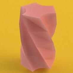 re.JPG Télécharger fichier STL gratuit Twisted geometric vase • Modèle imprimable en 3D, ClmentChupin