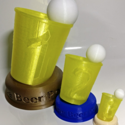Free 3D printer designs Beer Pong Cup / Trophy (3 Parts or single part), xTremePower