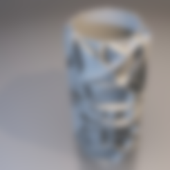 Free 3D printer designs Voronoi vase (rounded or not), xTremePower