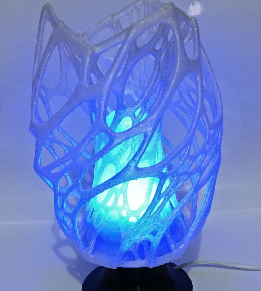 Capture d'écran 2017-12-13 à 10.50.04.png Download free STL file Cellular Lamp with foot, E27 RGB LED and diffuser • 3D printing design, xTremePower