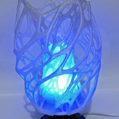 Free 3D printer designs Cellular Lamp with foot, E27 RGB LED and diffuser, xTremePower