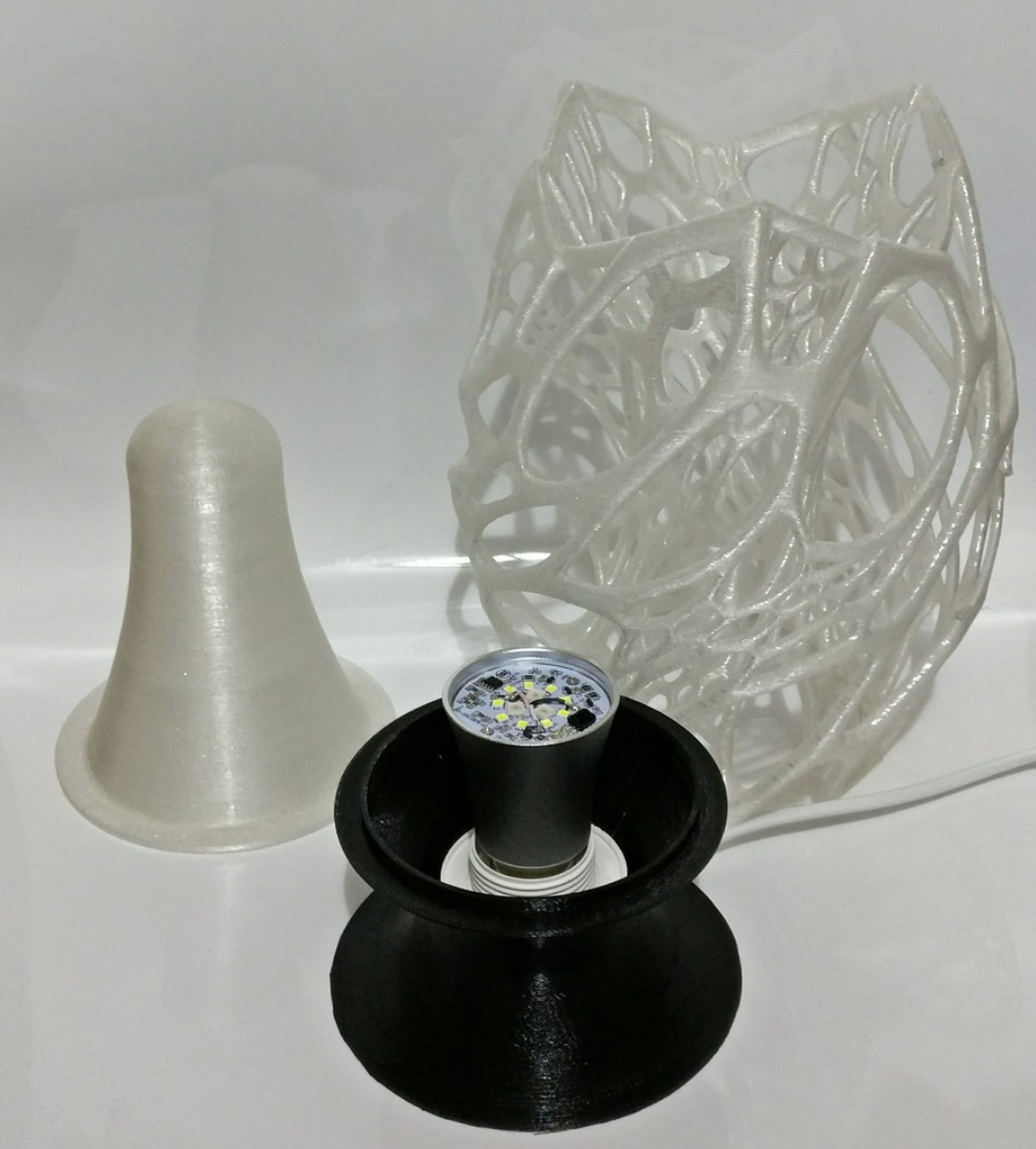 Capture d'écran 2017-12-13 à 10.49.48.png Download free STL file Cellular Lamp with foot, E27 RGB LED and diffuser • 3D printing design, xTremePower