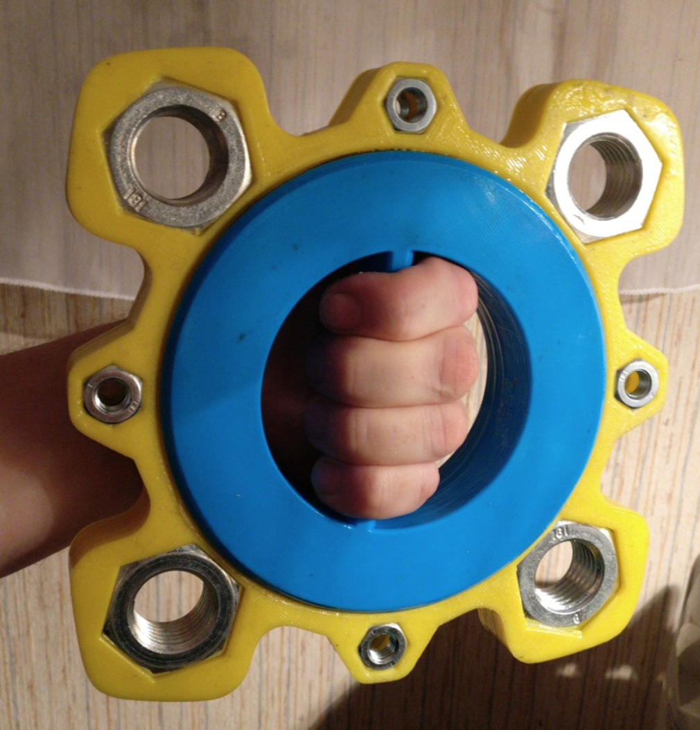 Capture d'écran 2017-11-28 à 18.00.46.png Download free STL file Giant fidget spinner, 6020 bearing and M27 + M10 nuts • 3D printing object, xTremePower