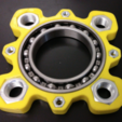Free STL file Giant fidget spinner, 6020 bearing and M27 + M10 nuts, xTremePower
