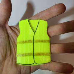 Archivos 3D gratis Chaleco amarillo (Pin's, coche retro, para pegar), xTremePower