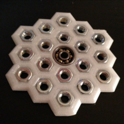 Free STL files Mini Honeycomb Fidget Spinner, xTremePower