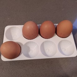 Descargar STL gratis Huevera para frigorifico ( Egg box fridge ), Rafa31