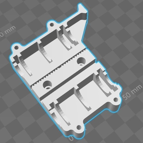 Download free STL file Chariot refermable porte extrudeurs GEEETech I3 Pro C • Template to 3D print, Pat973