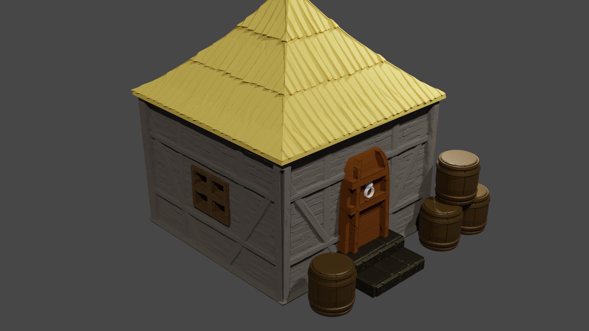 tiny house 4 .png Télécharger fichier STL Tiny house • Plan pour impression 3D, Motek3D