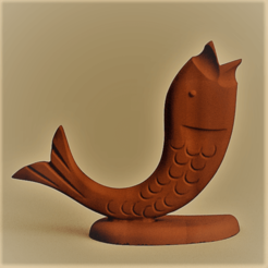 poisson wood rendu 1 1.png Download STL file wood fish and pen fish • 3D printer template, Motek3D