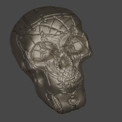 Download free 3D printing files Skull dream, Motek3D