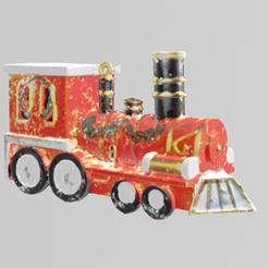 train de noel pres 2.png Télécharger fichier STL Train de noel • Design pour imprimante 3D, Motek3D