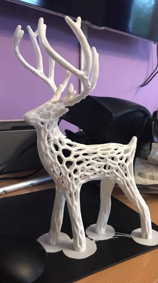 23472243_10214324996188158_9133310668144285596_n.jpg Download free STL file Great Christmas deer + voronoi + Big sled • 3D print design, motek