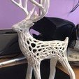 Free 3D print files Large Christmas deer + Voronoi + Large sled, Motek3D