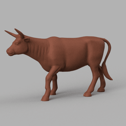 taureau 2 rendu 1 .png Download STL file bull 2 • 3D printable template, Motek3D