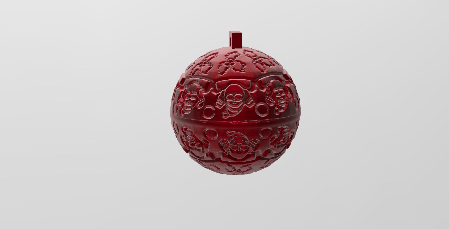 mandala sphere noel 7.png Download free STL file christmas ball 7 • Model to 3D print, Motek3D