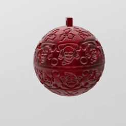 Download free 3D print files christmas ball 7, Motek3D