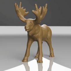 renne rendu 4 .png Télécharger fichier STL renne de noel • Objet à imprimer en 3D, motek