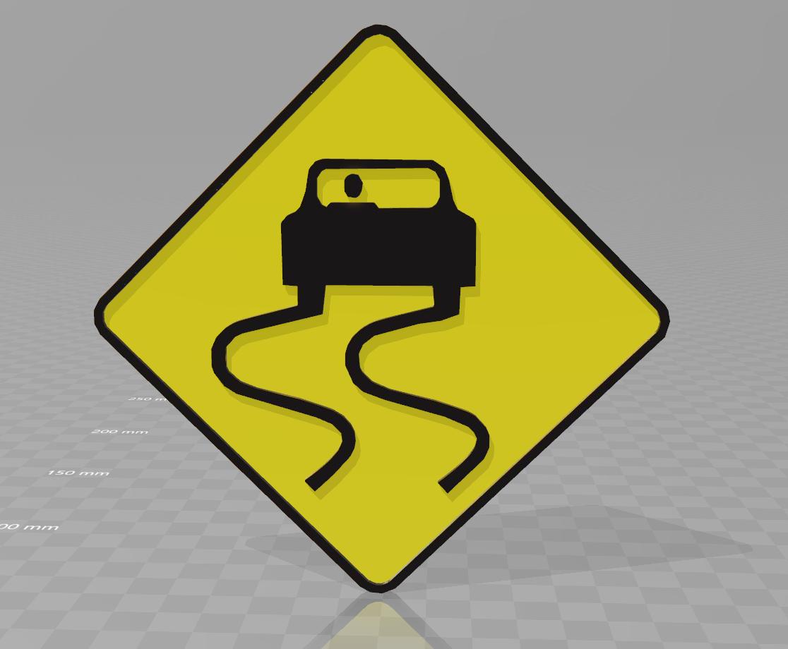 derapage.png Download free STL file drift sign • 3D printing model, motek