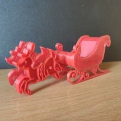 Download free 3D printer designs Santa's sled, Motek3D