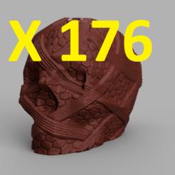 pres 176.png Download STL file Skull X176 • 3D printer model, motek