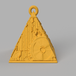 6.png Download STL file Christmas ball triangle • 3D printer template, motek