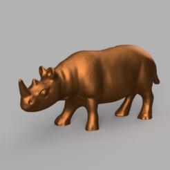 rihno pres 5 .png Télécharger fichier STL  Rhinocéros • Modèle à imprimer en 3D, motek