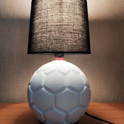 Download STL files Football lamp, Motek3D