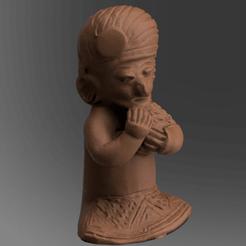 bois 5 .png Download STL file wooden statue • 3D printer design, motek