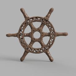 Télécharger objet 3D gratuit Roue bateau, Motek3D