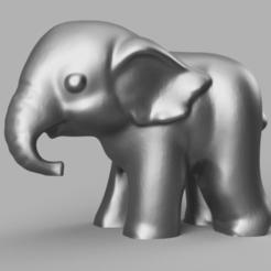Télécharger fichier STL gratuit elephant • Modèle pour imprimante 3D, Motek3D