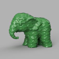 028.png Télécharger fichier STL Elephant  • Modèle pour imprimante 3D, motek