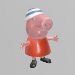 pepapig pres 1.png Download free STL file Peppa pig • Template to 3D print, Motek3D