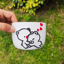 IMG_20200619_165619.jpg Télécharger fichier STL Pot Bear and Emoji • Design pour impression 3D, Motek3D