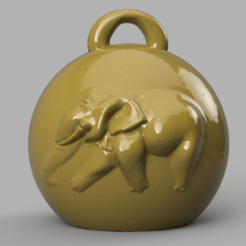 elephant 1 .png Download STL file Elephant Christmas ball • Template to 3D print, motek