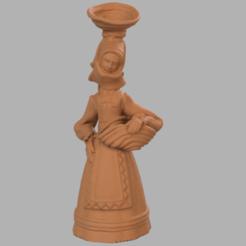 femme p 1.png Download STL file Woman basket • 3D print model, motek