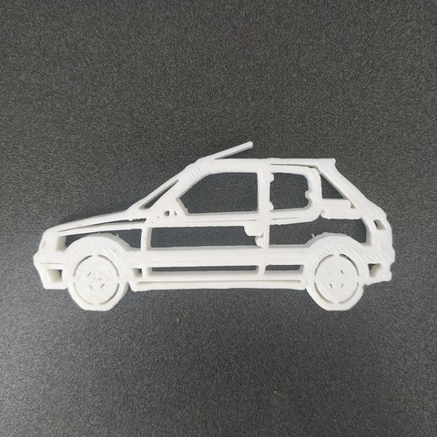 Download free 3D printing templates Peugeot 205 keychain, Motek3D