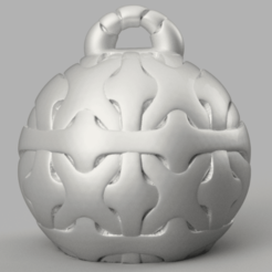 25 rendu 1 .png Download STL file Christmas ball • 3D print design, motek