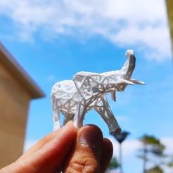 Télécharger STL gratuit Elephant Voronoï, Motek3D
