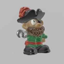 pirate pres 1.png Télécharger fichier STL Pirate • Design pour imprimante 3D, motek