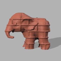0037.png Télécharger fichier STL Elephant  • Modèle pour imprimante 3D, motek
