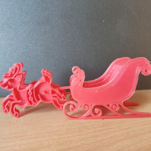 72743730_2374440299490115_1891730805223325696_n.jpg Download free STL file Santa's sled • 3D printable template, Motek3D