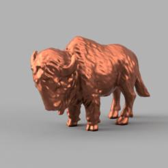 muffle rendu 2 .png Download STL file Bison • 3D printing design, motek