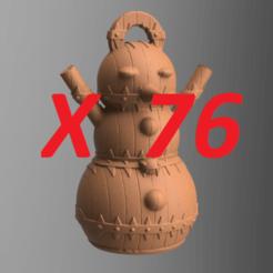 PRES.png Download STL file snowman X 76 • 3D printing template, motek