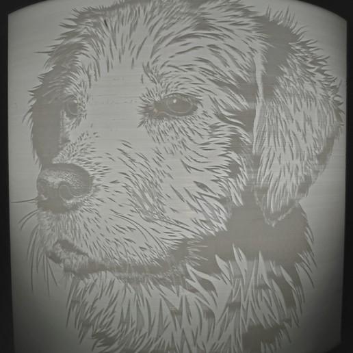 Télécharger STL gratuit Dog litophane , Motek3D