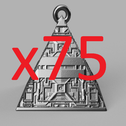 pres.png Download STL file christmas ball triangle X75 • 3D printer template, motek