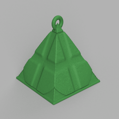 2.png Download free STL file Christmas ball triangle • 3D printer template, motek