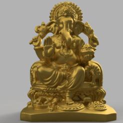 bouddha rendu 3 .png Download STL file Ganesh • 3D printable object, Motek3D