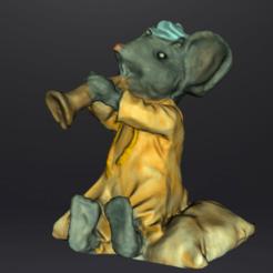 souris trompette text 2.png Download STL file Trumpet Mouse • 3D printer design, Motek3D
